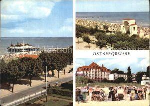 Ahlbeck Ostseebad Seebruecke Bansin Strand Heringsdorf FDGB Heim Kat. Heringsdorf Insel Usedom