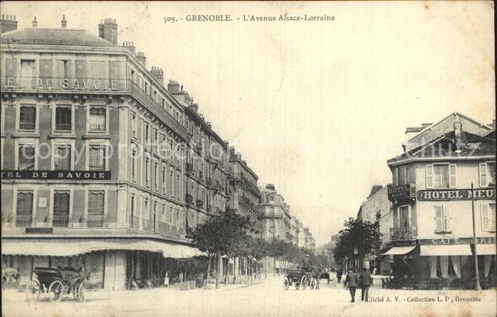 Grenoble Avenue Alsace Lorraine Kat. Grenoble