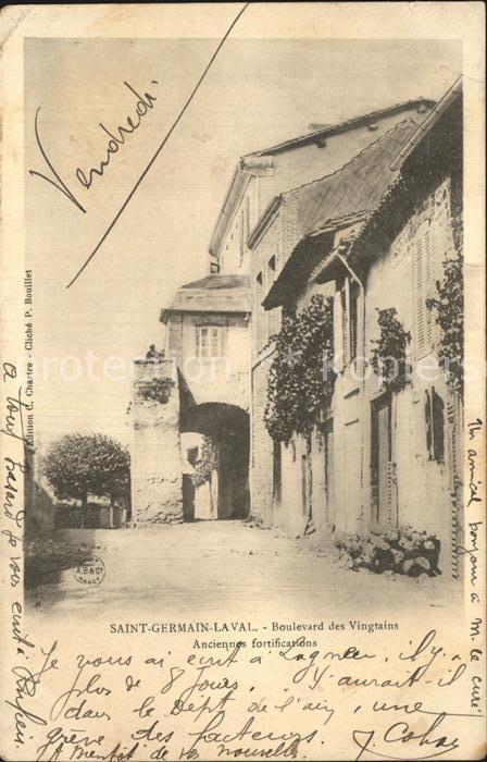 Saint Germain Laval Loire Boulevard des Vingtains anciennes fortifications Kat. Saint Germain Laval