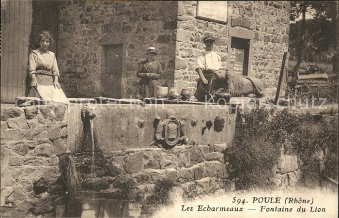 Poule les Echarmeaux Fontaine du Lion Kat. Poule les Echarmeaux