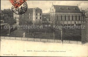 Dreux Pensionnat Saint Pierre Chapelle et Cour interieure Kat. Dreux