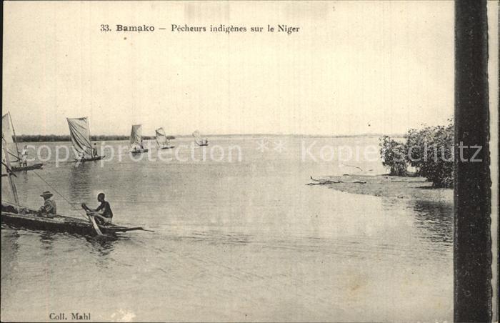 Bamako Pecheurs indigenes sur le Niger Kat. Bamako