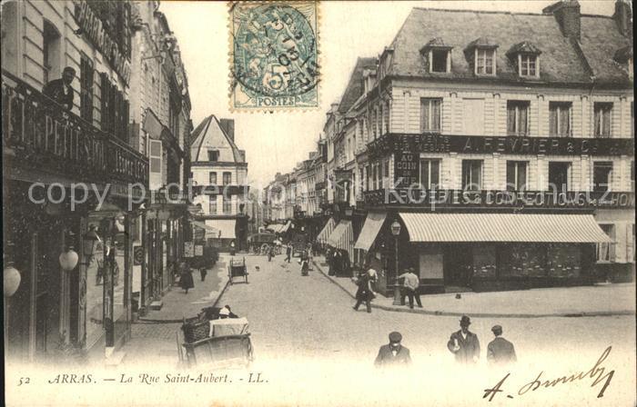 Arras Pas de Calais La Rue Saint Aubert Kat. Arras