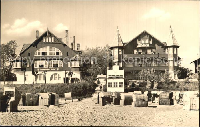 Bansin Ostseebad Strand FDGB Erholungsheim Seehof Haus Vineta  Kat. Heringsdorf