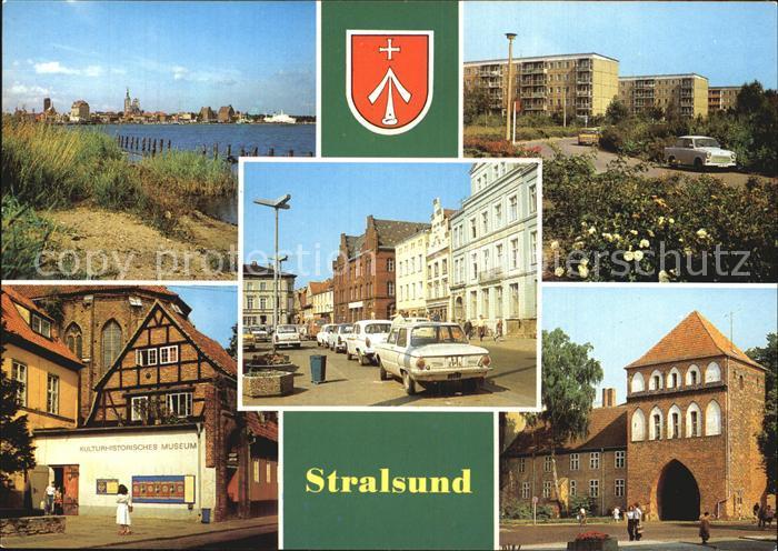 Stralsund Mecklenburg Vorpommern Hafen Leninplatz Friedrich Wolf Platz Kulturhistorisches Museum Kat. Stralsund