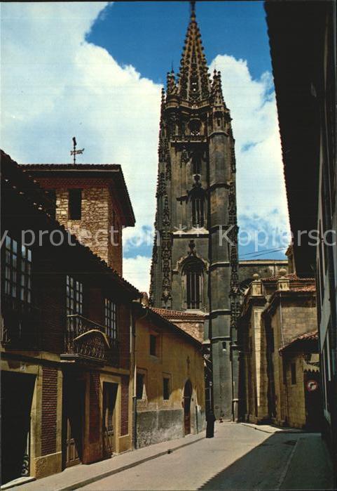 Oviedo Asturias Kathedrale Calle de Santa Ana Kat. Oviedo