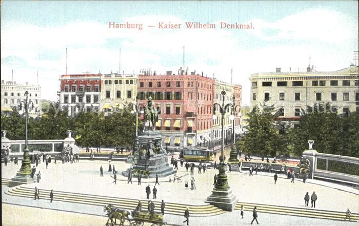 Hamburg Kaiser Wilhelm Denkmal Kat. Hamburg