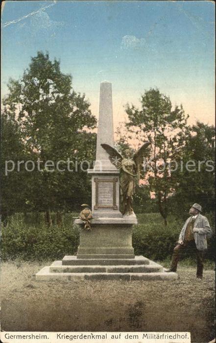 Germersheim Kriegerdenkmal Militaerfriedhof Kat. Germersheim