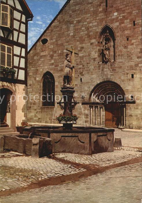 Kaysersberg Haut Rhin Brunnen Kirche  Kat. Kaysersberg
