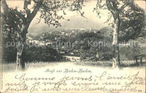 Baden Baden Ansicht vom Waldrand aus Kat. Baden Baden