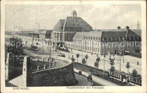 Dortmund Hauptbahnhof mit Freistuhl Kat. Dortmund