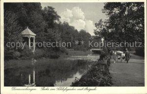 Donaueschingen Partie im Schlossgarten mit Brigach Kat. Donaueschingen