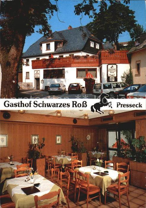 Presseck Gasthof Schwarzes Ross Gaststube Kat. Presseck