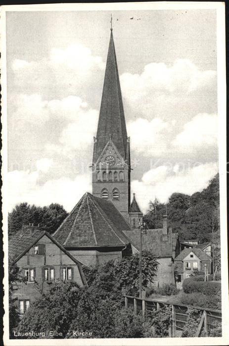 Lauenburg Elbe Kirche Kat. Lauenburg  Elbe