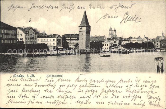 Lindau Bodensee Hafenpartie Kat. Lindau (Bodensee)