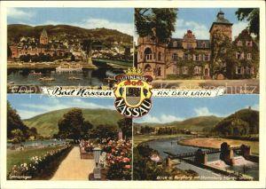Bad Nassau Burgberg Lahnanlagen Schloss  Kat. Nassau Lahn