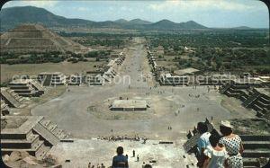 Teotihuacan Panorama Plaza of the Moon Avenue of the Dead Pyramid to the San Kat. San Juan Teotihuacan Mexiko
