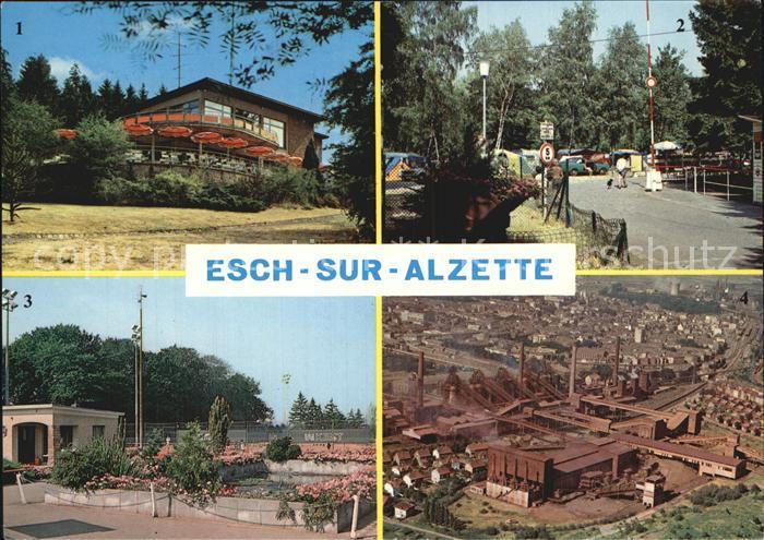 Ak ansichtskarte esch sur alzette hopital de la ville - Piscine a esch sur alzette ...