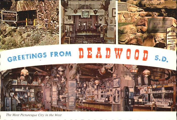 Deadwood South Dakota Most Picturesque City  Kat. Deadwood