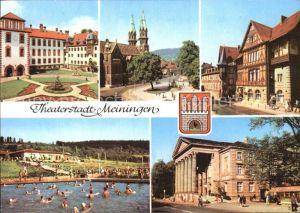 Meiningen Thueringen Theater Kirche Schloss Henneberger Haus Schwimmbad Kat. Meiningen