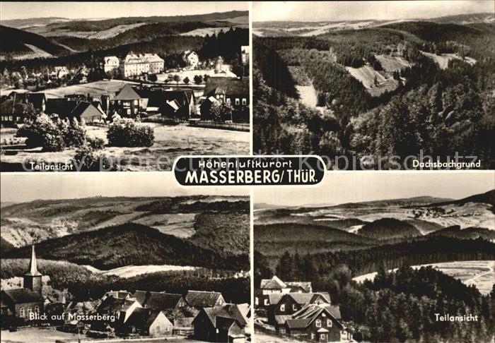 Masserberg Dachsbachgrund Masserberg Panorama Kat. Masserberg