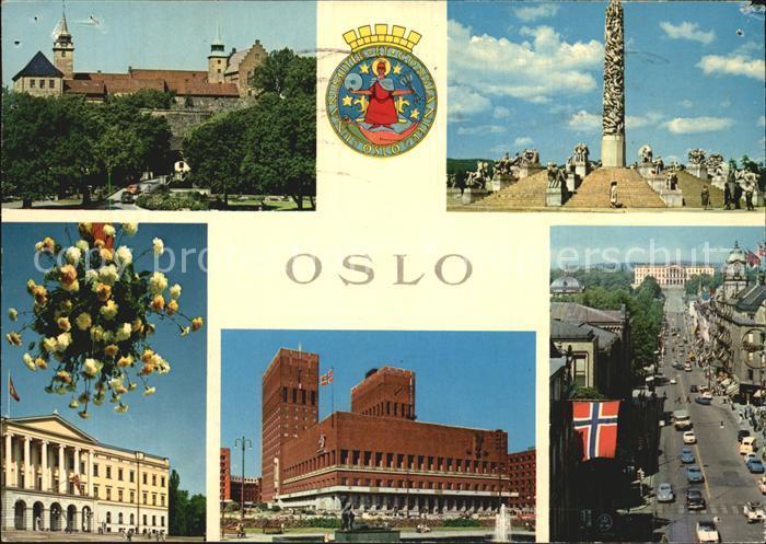 Oslo Norwegen Rathaus Parkanlagen Ortspartien Kat. Oslo