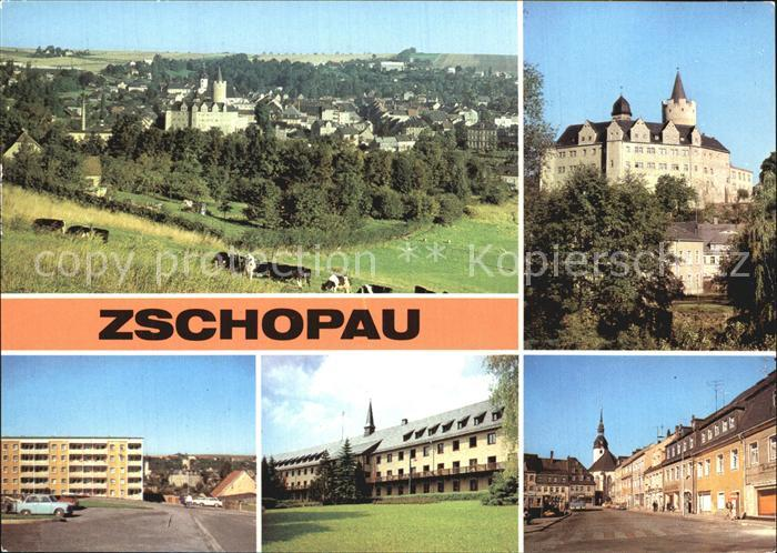 Zschopau Schloss Wildeck Warmbad Pawlow Haus Leninplatz Kat. Zschopau