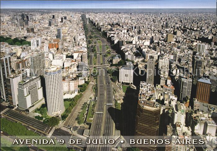 Buenos Aires Fliegeraufnahme Avenida 9 de Julio Kat. Buenos Aires