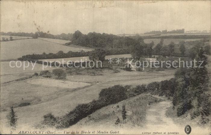 Abancourt Oise Vue de la Bresle et Moulin Godet Kat. Abancourt