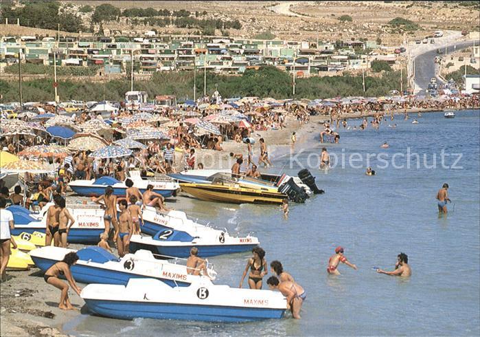 Malta Sandy Beach Mellieha Bay Kat. Malta