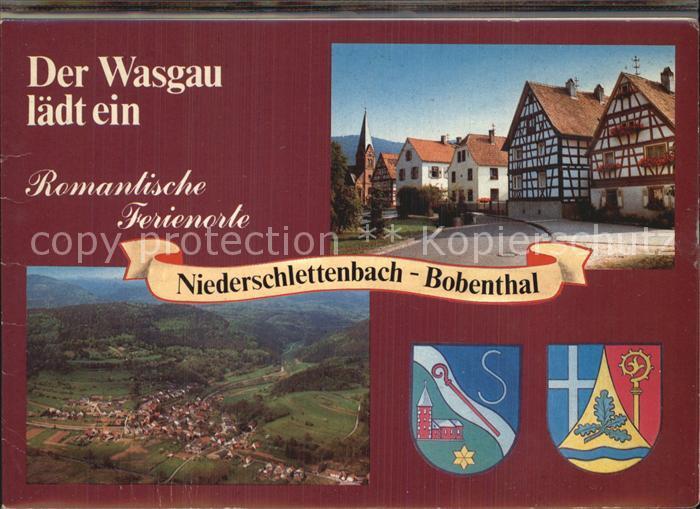 Bobenthal Fachwerkhaeuser Totalansicht Burg Berwartstein Zum alten Schulhaus Alte Muehle Schlettenbach Panorama Kat. Bobenthal
