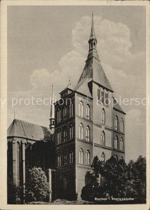 Rostock Mecklenburg Vorpommern Marienkirche Kat. Rostock