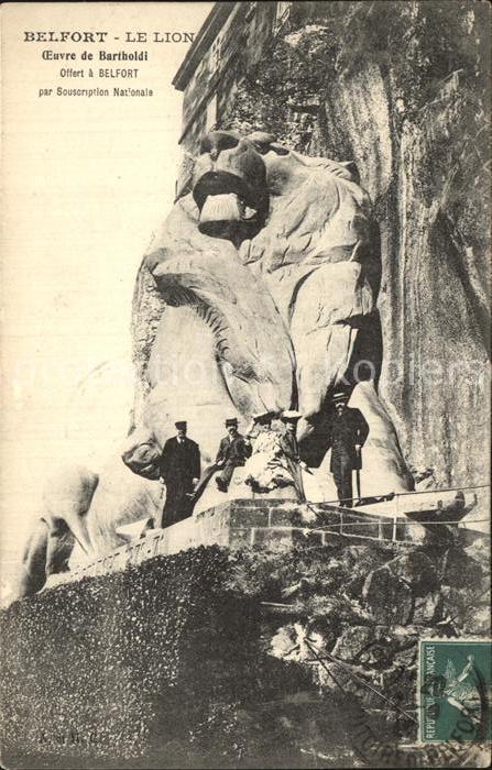 Belfort Alsace Le Lion Oeuvre de Bartholdi Kat. Belfort