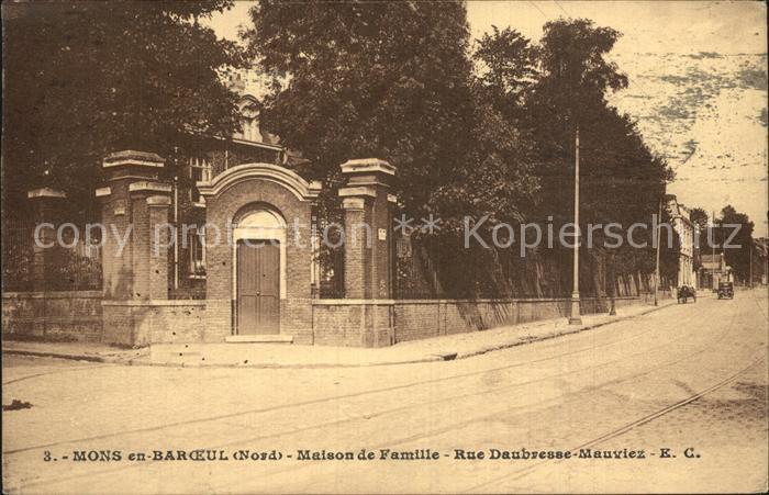 Mons en Baroeul Maison de Famille Rue Daubresse Mauviez Kat. 0