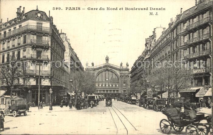 Paris Gare du Nord Boulevard Denain Kat. Paris