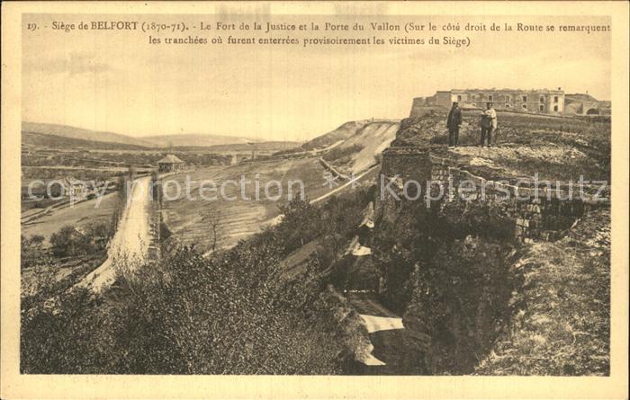 Belfort Alsace La Siege de Belfort Fort de la Justice Porte du Vallon Kat. Belfort