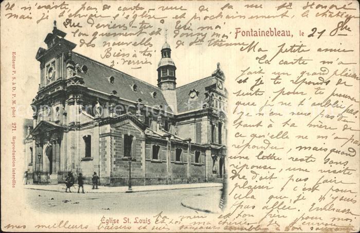 Fontainebleau Seine et Marne Eglise Saint Louis Kat. Fontainebleau