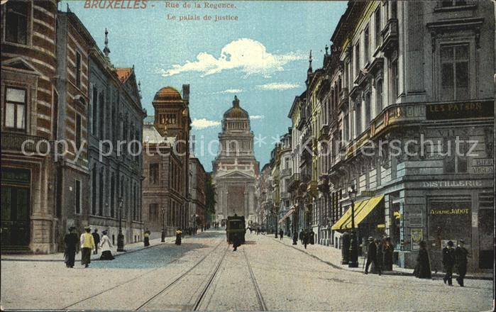 Bruxelles Bruessel Rue de la Regence Palais de Justice Kat.