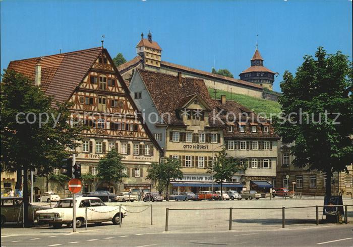 Esslingen Neckar Marktplatz Burg Kat. Esslingen am Neckar