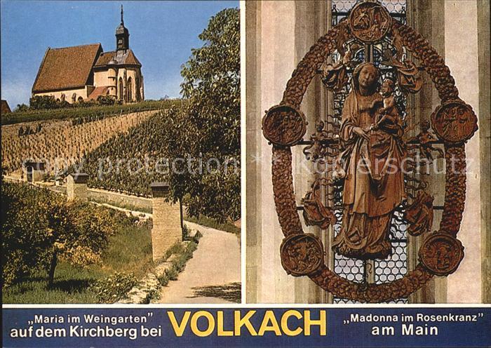Volkach Maria Weingarten auf dem Kirchberg Wallfahrtskirche Kat. Volkach Main