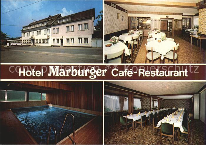 Hesselbach Wittgenstein Laasphe Cafe Restaurant Pension Marburger Kat. Bad Laasphe