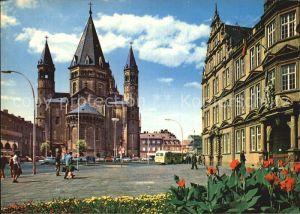 Mainz Rhein Dom mit Gutenberg Museum