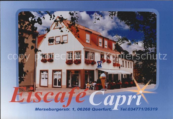 Querfurt Eiscafe Capri Kat. Querfurt