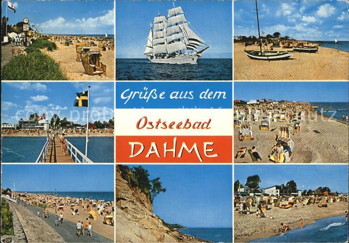 Dahme Ostseebad Strand Seebruecke Segelschiff Kat. Dahme