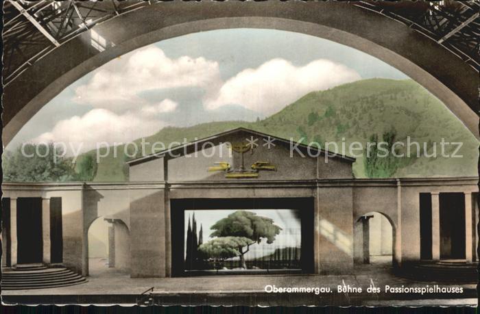 Oberammergau Buehne Passionsspielhaus Kat. Oberammergau