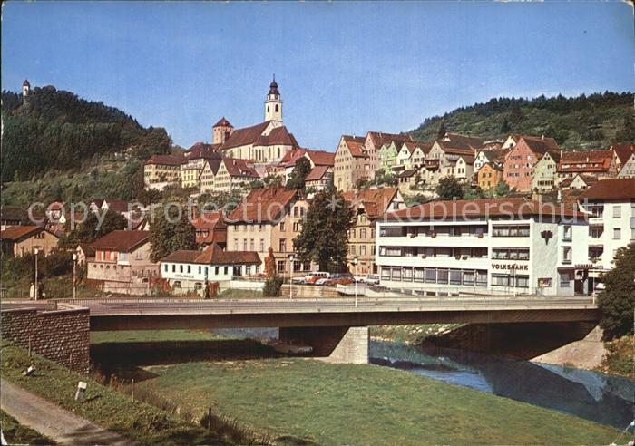 Horb Neckar mit Schurkenturm  Kat. Horb am Neckar
