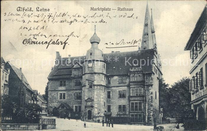 Alfeld Leine Marktplatz Rathaus Kat. Alfeld (Leine)