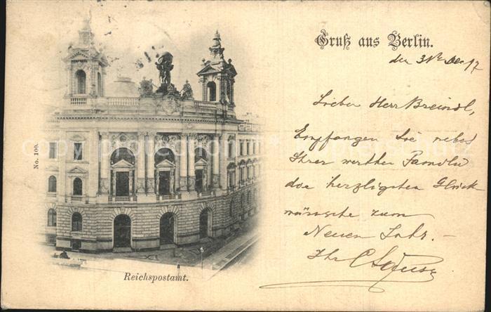 Berlin Reichspostamt Kat. Berlin