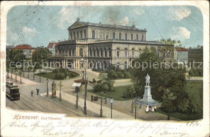 Hannover Hof Theater Kat. Hannover