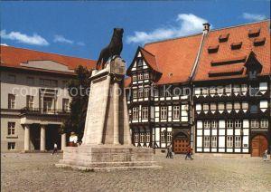 Braunschweig Burgplatz Loewendenkmal Gildehaus Landesmuseum Kat. Braunschweig
